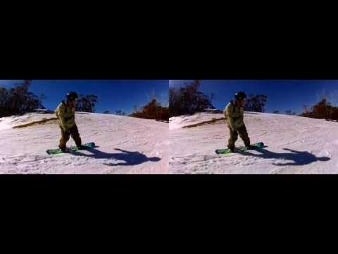 GoPro 3D snowboarding - Thredbo in 3D Sept 2012