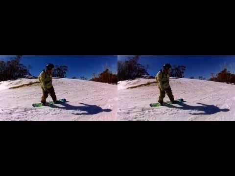 GoPro 3D snowboarding - Thredbo in 3D Sept 2012