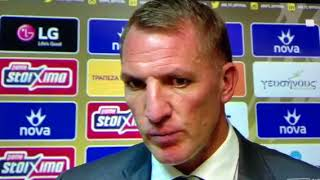 Brendan Rodgers after Celtic's defeat in Athens