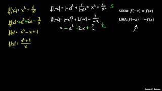 Sodost in lihost funkcije 5