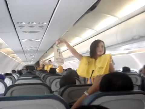 Sexy Air Hostess Dancing for Passengers