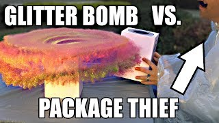 Package Thief vs. Glitter Bomb Trap