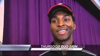 Thurgood Marshall duo sign to play football in college