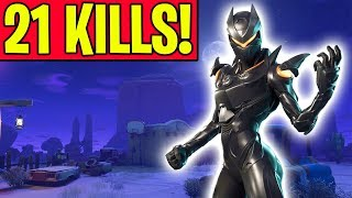 EPIC *21 KILL WIN* IN FORTNITE BATTLE ROYALE!! (Solo Gameplay)