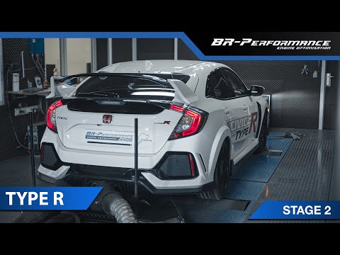 Honda Civic Type R FK8 / Stage 2 By BR-Performance / Upgraded Downpipe & Intercooler