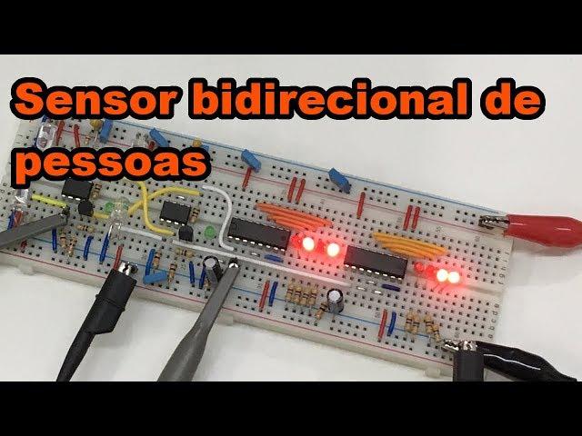 SENSOR BIDIRECIONAL DE PESSOAS | Conheça Eletrônica! #124