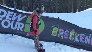 Chloe Kim's First Place Run - Women's Superpipe 2017 Dew Tour