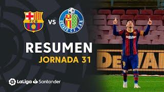 Resumen de FC Barcelona vs Getafe CF (5-2)