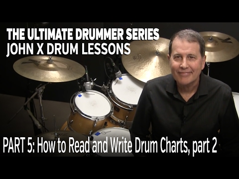 JohnX Lessons: How to Read and Write Drum Charts, Part 2