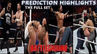 WWE 2K16 Battleground 2016 | Prediction Highlights (Full Set)
