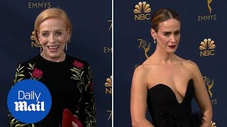 Sarah Paulson & Holland Taylor arrive separately at 2018 Emmys