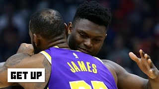 Reacting to LeBron hugging Zion and his comments after the Lakers' win vs. the Pelicans | Get Up