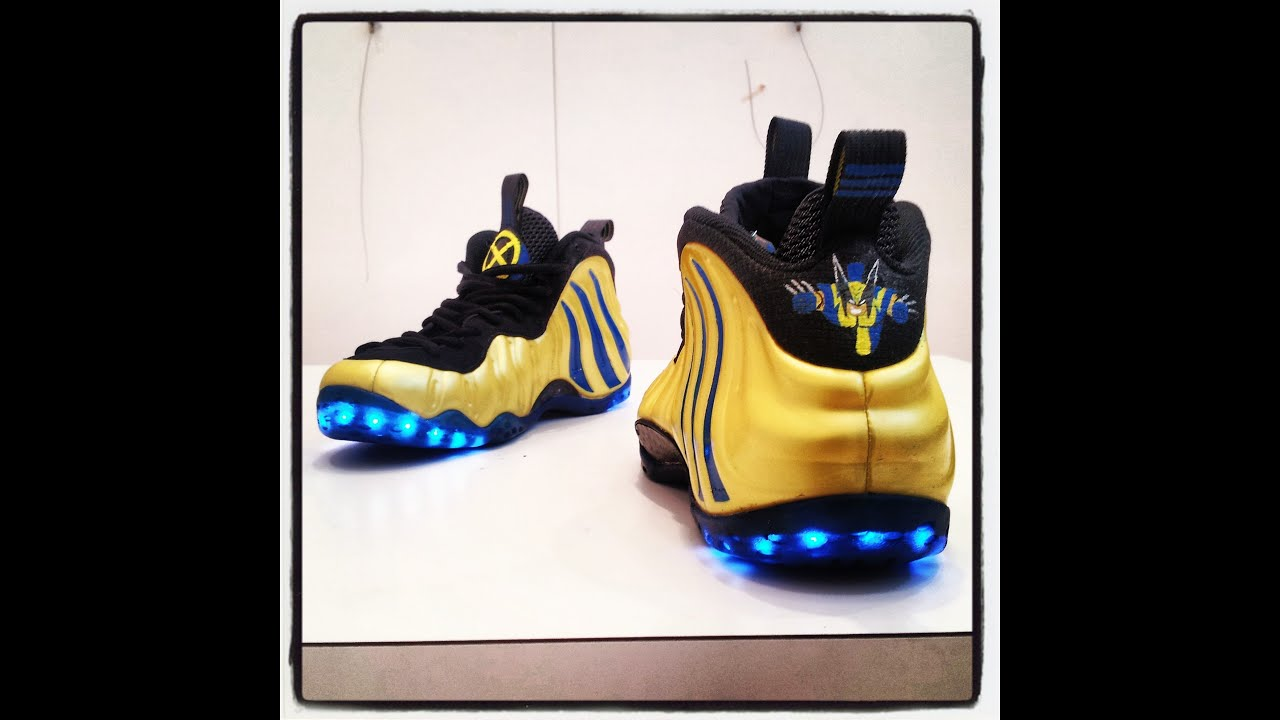 LED Wolverine Foamposite - YouTube