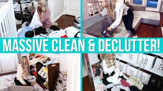 MASSIVE CLEAN, ORGANIZE + DECLUTTER WITH ME! Ultimate Cleaning Motivation!