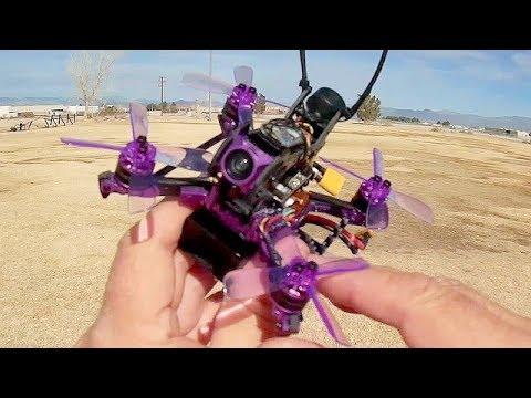 Lizard 105S DVR 4S Brushless Micro FPV Racer Flight Test Review