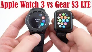 Apple Watch Series 3 LTE vs Samsung Gear S3