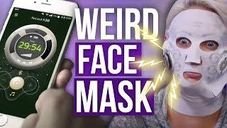 ELECTRIC Korean Face Mask?! (Beauty Break)