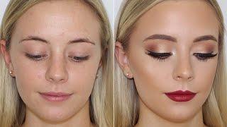 Gold Eyes & Bold Lip Client Makeup Tutorial ♡ Jasmine Hand