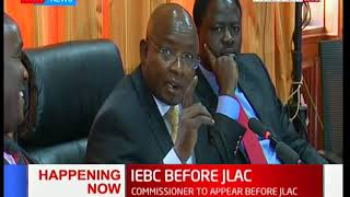 HAPPENING NOW: Justice and legal affairs committee summons  IEBC