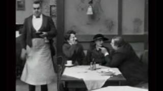 Charlie Chaplin in restaurant