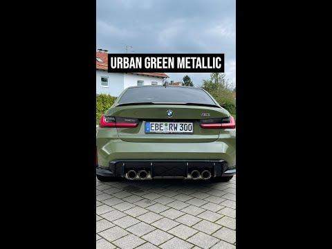 BMW M3 in the special Urban Green Metallic | 4K #shorts