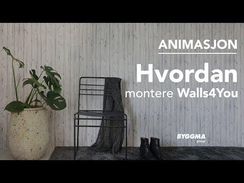 En detaljert animasjon som viser deg montering av Walls4You