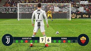 PES 2019   Juventus FC vs AS Roma   Penalty Shootout   C.Ronaldo vs Roma   Gameplay PC