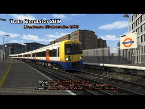 [T&D LO] 05. 2L68 Clapham Junction to Stratford (Livestream 28/12/2018)