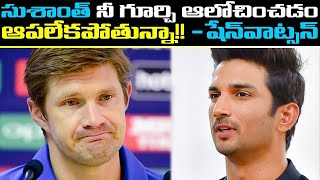 Shane Watson pays a moving tribute to the late actor Susha..