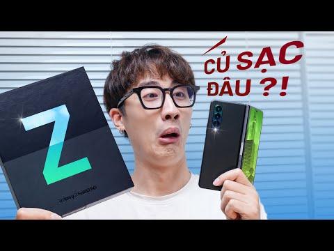 Mở hộp Galaxy Z Fold3 5G chính hãng: Củ sạc đâu rồi?