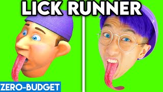 LICK RUNNER WITH ZERO BUDGET! (FUNNY LICK RUNNER APP GAME PARODY BY LANKYBOX!)