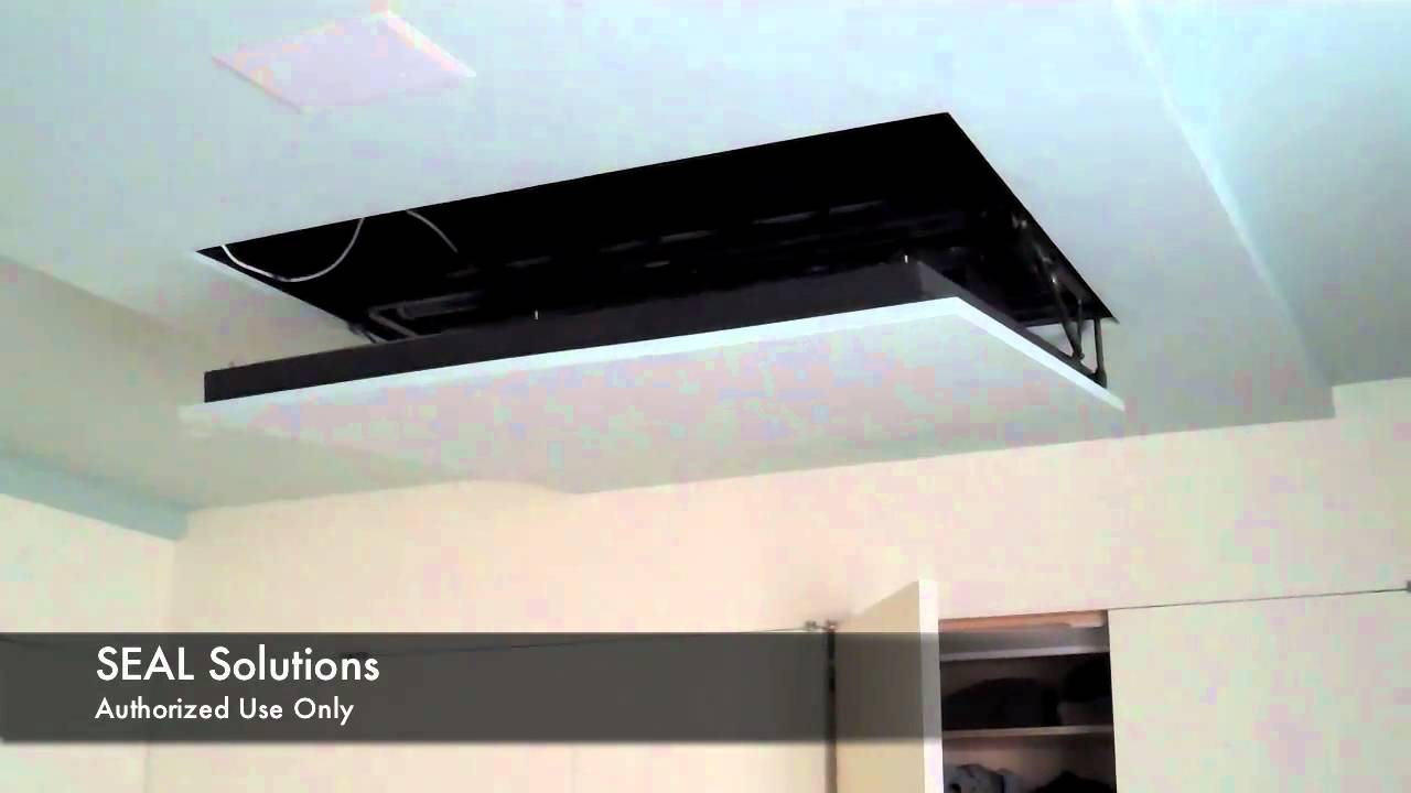 Seal Solutions Motorized Flip Down Auton Tv Lift Youtube