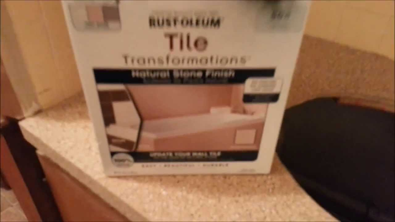 Countertop Transformation Project With Rust Oleum Youtube
