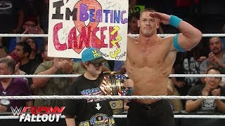 John Cena welcomes a courageous member of the WWE Universe to the ring: Raw Fallout, June 1, 2015