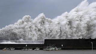 Il Giappone terrorizzato dal piû violento tifone in 25 anni