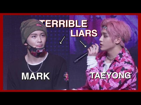 mark and taeyong are terrible liars