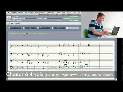 Logiciel de solfège EarMaster Pro 6 - exercice de chant à vue