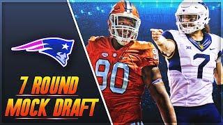 Pats Get 2 Starters + Tom Brady's Heir | New England Patriots 7 Round Mock Draft