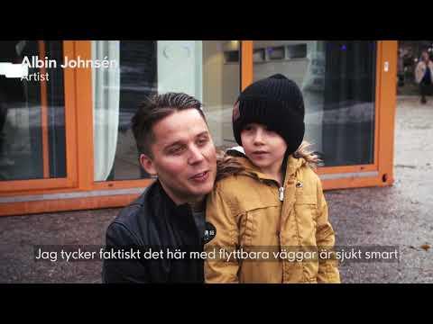 Albin Johnsén testar våra smarta lösningar för flexibelt boende