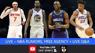 NBA Rumors, Kevin Durant Free Agency, Jimmy Butler, Kemba Walker, Carmelo Anthony Return & Live Q&A