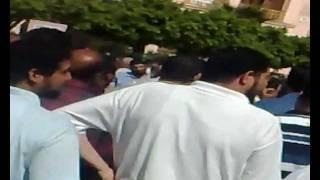 اعتصام مصححي الشهادة الإعدادية في بني سويف