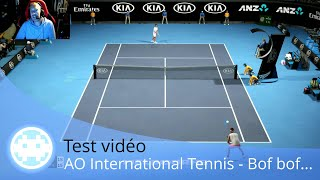 Vidéo-Test : Test vidéo - AO International Tennis - Un jeu passable, voire médiocre