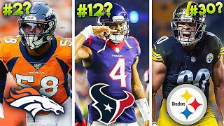 The BEST Current NFL Player DRAFTED At EACH SPOT In The FIRST ROUND (1st to 32nd)
