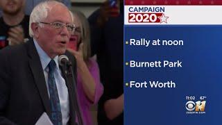 Vermont Senator Bernie Sanders Holding Fort Worth Rally