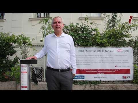 Die erste private Haus-Stromtankstelle im öffentlichen Raum