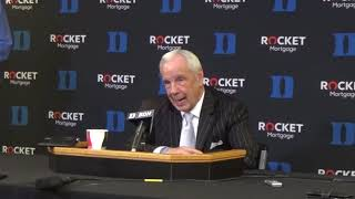 UNC Duke Roy Williams Postgame Presser