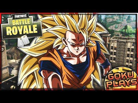 Goku Plays Fortnite: Battle Royale!
