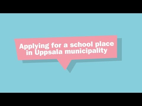 Applying for a school place in Uppsala municipality