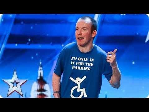 Lost Voice Guy has the audience ROARING with unique comedy routine | Auditions | BGT 2018