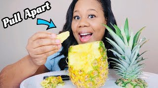 I tried to Pull Apart A PINEAPPLE Like The VIRAL VIDEO